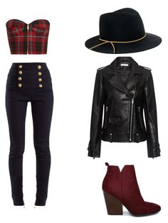 """""""Untitled #3"""" by hadnagy on Polyvore featuring Balmain, Eugenia Kim and IRO"""