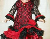 "Spanish Flamenco Style Dress - Flamenco costume for 18"" dolls"