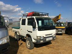 Small Trucks, Mini Trucks, Cool Trucks, Pickup Trucks, Cool Cars, Toyota Dyna, Mini 4x4, Mitsubishi Canter, Utility Truck