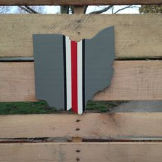 Ohio State cut out wall hanging sign by FrankartCrafts on Etsy