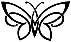 Free Celtic Butterfly Tattoo - Simple Celtic Butterfly Design ❥❥❥ https://tattoosk.com/celtic-butterfly-tattoo#1