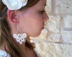DIY Anthropologie Lace Earrings #anthropologie #anthro #DIY