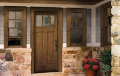 Craftsman front door by HomeStory.  #Doors #FrontDoors #HomeRemodeling