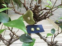 Porzellan Schmuck-Kette und Ohrring in Lotos Form