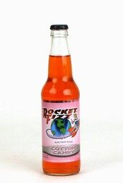 """""""Cotton Candy""""....Rocket Fizz sodas are proudly made in the USA with pure cane sugar for an authentic, gourmet flavor. Cotton Candy has a super sweet flavor: if you close your eyes while drinking it you can almost imagine the sugar dissolving on your tongue as if you're eating fresh cotton candy."""