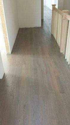 Red Oak floor, with custom gray stain   Hardwood Floors ...