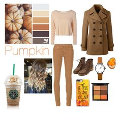 """""""Pumpkin palette"""" by mredwards1012 ❤ liked on Polyvore featuring AG Adriano Goldschmied, Lands' End, Casetify and MAC Cosmetics"""
