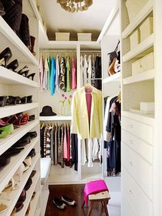 narrow closet BHG by The Estate of Things, via Flickr
