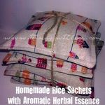 Rice heat packs with aromatic herbs