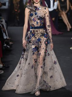 Starry Eyed | Florals Elie Saab Fall 2016 Couture