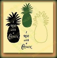 SVG Pineapple Crown Roe Stand Tall Fruit by SHAREnShareALIKE