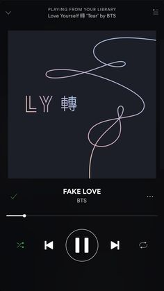 I''m so sorry but is fake love'🎶🙏 Music Mood, K Pop Music, Musica Spotify, Bts Song Lyrics, Bangtan Bomb, Music Aesthetic, Blackpink And Bts, Music Wallpaper, Bts Playlist