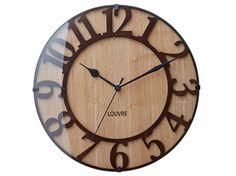 【インターフォルム】電波掛け時計・ミュゼ ウッド Musee -wood-・CL-8333 【掛け時計本舗】