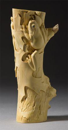 Pin Oak Sentinel • Janel Jacobson ~ Small Sculptures and Netsuke