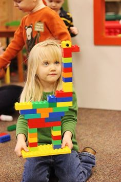 Lego Duplo Playdate. Make a giraffe!