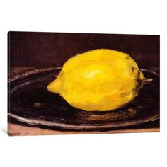 iCanvas The Lemon Gallery Wrapped Canvas Art Print by Edouard Manet, Yellow