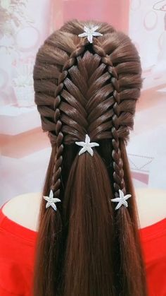 Easy Hairstyles For Long Hair, Braids For Long Hair, Up Hairstyles, Hair Cutting Videos, Hair Videos, Medium Hair Styles, Short Hair Styles, Hair Upstyles, Hair Designs