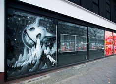 Jeff Soto- Urban Nation Berlin Soto was invited to create a window display as part of Urban Nation Berlin 2014.