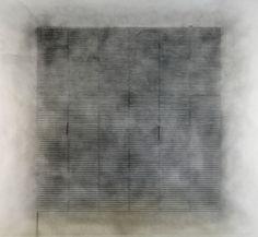 "Matt Niebuhr, untitled, no.1;  2011; china marker and graphite over graphite wash on paper;   48"" x 48"" (121.92 x 121.92) cm"
