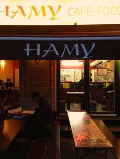 hamy berlin - Google Search Berlin, Cafe Food, Broadway Shows, Signs, Google Search, Shop Signs, Sign