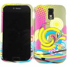 Unlimited Cellular Snap-On Case for Samsung Galaxy S2 Hercules T989 (Flowers/Circles and Stripes)