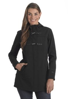 Sport our Women's Plus Size Groover Softshell Jacket for a casual and comfy look this season.