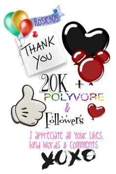 """Thank you! 20K+ Followers"" by rosie305 ❤ liked on Polyvore featuring art"