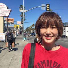 non-noさんはInstagramを利用しています:「ノンノ6月号からLAでのばっさースマイル! 今したいTシャツの着こなしを、 LAの街中で披露してくれました。 本誌もぜひチェックしてね! #nonno_magazine #nonno #ノンノ #本田翼 #ばっさー #LA」