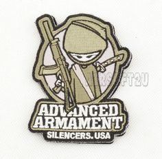 Airsoft Patch with Velcro Back Advanced Armament