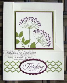 Summer Silhouettes Folded Corner by Wendy Lee, #creativeleeyours, Stampin' Up!, thinking of you card, April 2015 FMN class