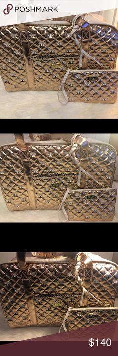 "Betsey Johnson Weekender Travel Bag Large travel bag 19"" length x 9"" width x 12"" height  Brand New - Never used Betsey Johnson Bags Travel Bags"