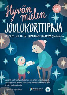 Poster for Hyvän mielen joulukorttipaja by Teemu Helenius, via Behance