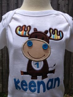 Moose Shirt  Boy's Moose Birthday Shirt  Girl's by OurLilBowtique