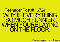 Hmmm.....something to think ab-hahahahahha I should probably stop laying on the floor....