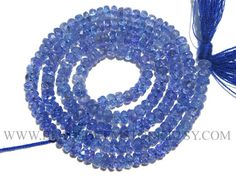 Tanzanite Faceted Rondelle Beads Quality AA 2.50 to 3.10 #tanzanite #tanzanitebeads #tanzanitebead #tanzaniteroundel #roundelbeads #beadswholesaler #semipreciousstone #gemstonebeads #beadsogemstone #beadwork #beadstore #bead