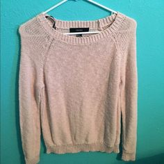 Knit Sweater Blush Pink Forever 21 Sweaters Crew & Scoop Necks