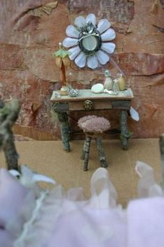 Unique Diy Fairy Garden And Furniture Design – Page 23 of 68 Unique DIY Fairy Garden And Furniture Design 23 Garden Furniture Design, Fairy Garden Furniture, Mini Fairy Garden, Fairy Garden Houses, Fairy Gardening, Fairies Garden, Design Page, Design Ideas, Fairy Village
