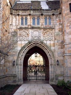 Branford College at Yale...it's beautiful and reminds me just a bit of Hogwarts