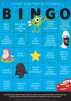 It's time to add to the Walt Disney World Bingo Challenge. Here is the Disney's Hollywood Studios card. Have fun creating unique games with them. I done all but 3 things. This would be so much fun to do the next time I'm there! Walt Disney World, Disney World Vacation, Disney World Resorts, Disney Vacations, Disney Parks, Disney Travel, Disney Worlds, Family Vacations, Disney World Tips And Tricks
