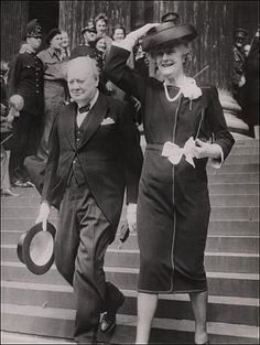 Prime Minister Winston Churchill and Mrs. Churchill