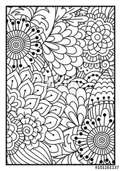 Floral Pattern Colouring Page