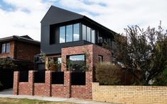 Manufacturer of fibre cement building products including James Hardie and Scyon external cladding, interior lining, flooring and eaves products for the Australian residential and commercial market. Exterior Wall Cladding, House Cladding, Facade House, House Facades, James Hardie, Modern Brick House, Recycled Brick, Brick Facade, House Extensions