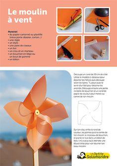 Le moulin à vent Plastic Bottle Crafts, Plastic Bottles, Diy For Kids, Crafts For Kids, Tin Can Art, 4 Element, Antibes, Le Moulin, Flower Seeds
