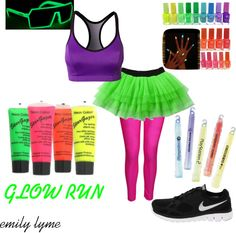 """GLOW RUN"" by lyme on Polyvore... more clothes then that though!"