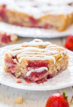 Soft & Fluffy Strawberry Banana Cake