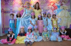 Our Princesses Cinderella and Belle with our lovely little Princesses
