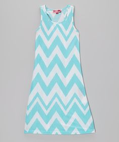 Another great find on #zulily! Chillipop Capri Zigzag Maxi Dress - Girls by Chillipop #zulilyfinds