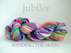 Gorgeous jubilee yarn from Winding The Skein - always great colors and uploads new ones every Monday on Etsy!