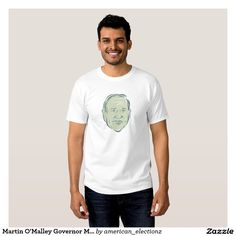 Martin O'Malley Governor Maryland T-shirts. American elections men's t-shirt with an illustration showing Martin O'Malley, American Governor of Maryland, elected politician and Democratic Party member on isolated background done in etching sketch style. #OMalley2016 #democrat #americanelections #elections #vote2016 #election2016