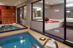 Cove Fantasy Suite featuring in-suite pool and heart-shaped whirlpool bath-for-two